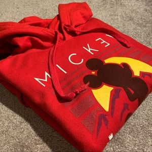Mens NEFF Mickey Mouse Red Hoodie